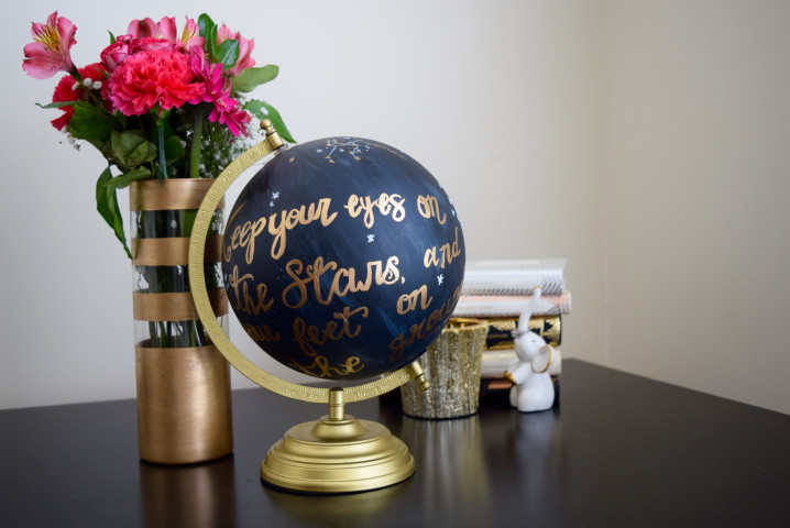 Anthropologie Hand Painted Globe DIY