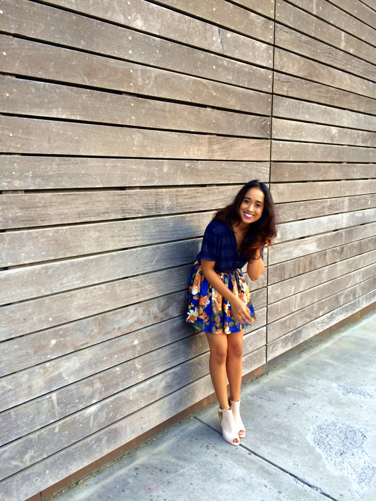Summer Stripes and Floral Skirt